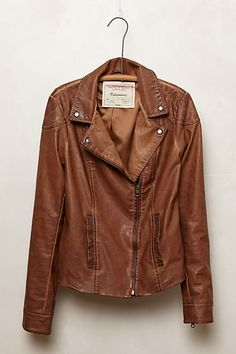 Fayette Vegan Leather Jacket #anthrofave
