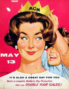 Mother's Day Promotion by Arthur Sarnoff | Tom Simpson | Flickr Happy Mothers Day Images, Mothers Day Poems, Mothers Day Pictures, Mother Images, Mother Day Wishes, Mothers Day Special, Mothers Day Cards, Father Day Ad, Mother's Day Promotion