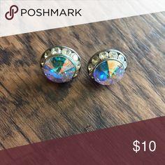 AB Crystal Rhinestone earrings Medium AB crystal rhinestone post earrings Jewelry Earrings