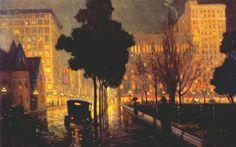 "Frank Coburn American 1862 - 1938 ""Rainy Night"""