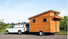 The Salsa Box tiny house, by Portland, Oregon-based Shelter Wise (Photo: Shelter Wise) Buy A Tiny House, Building A Tiny House, Tiny House Plans, Tiny House Design, Tiny House On Wheels, Micro House, Tiny Trailers, Tiny House Trailer, Camper Trailers