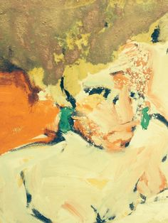 """john murray. Russian 1 Painting, Oil on Canvas, 20.0""""h x 16.0""""w Richly colorful stylized painting of a nude female"""