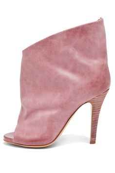 Both timeless and iconoclastic, this Margiela boot would definitely be one of the most special items in your closet.     Maison Martin Margiela Open Toe Bootie, $835