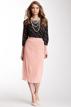 Crepe Midi Skirt on HauteLook #tznius #tzniut #modest