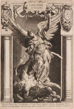 The Archangel Michael Defeating Satan - Lucas Kilian 1588 Catholic Art, Religious Art, Archangel Michael Tattoo, Saint Michael Tattoo, Los Muertos Tattoo, Biblical Art, Arte Horror, Dutch Artists, Classical Art