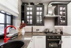 Amenajare în stil industrial la bloc | Adela Pârvu - Interior design blogger Country Chic, Home Living Room, Kitchen Interior, Furniture Decor, Bedroom Decor, Kitchen Cabinets, Loft, Home Appliances, Home Decor