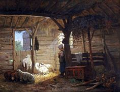 Anton Mauve (Zaandam Arnhem) , The young shepherdess Anton, Mauve, Dutch Painters, Body Drawing, Dutch Artists, Art For Art Sake, Painting Lessons, Up Girl, Funny Art