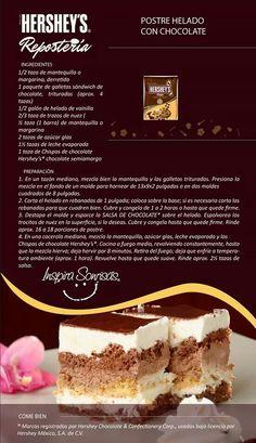 Postre helado con chocolate