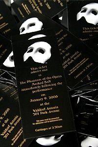 Phantom Party Invitations | Phantom of the Opera Invitations