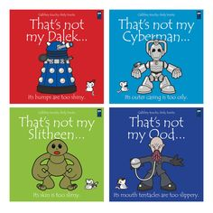 Gallifrey touchy-feely books by deezoid If these were real books I'd buy 'em in a second. Doctor Who Baby Shower, Doctor Who Nursery, Dr Who Books, Doctor Who Books, Geek Baby, Mileena, Dalek, Matt Smith, Just In Case