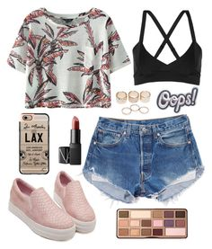 """""""if it as still warm in Ohio"""" by maddygrabowski on Polyvore featuring Chicnova Fashion, NARS Cosmetics, Live The Process, Wet Seal, Anya Hindmarch, Casetify and Too Faced Cosmetics"""