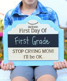 Look what I found on #zulily! 'Stop Crying' Personalized Chalkboard Sign #zulilyfinds