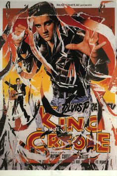 Mimmo Rotella, King Creole, seridécollage, 70x100 cm Il seridécollage, con gli strappi fatti a mano, riproduce il manifesto del film diretto da Michael Curtiz nel 1958 e interpretato da Elvis Presley. Presenta la firma dell'artista in basso a destra, la sigla P. A. (prova d'autore) e il timbro della Fondazione Mimmo Rotella in basso a sinistra.  http://milanoarte.biz/index.php/mimmo-rotella-550.html