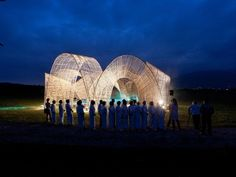 Forest Pavilion by nARCHITECTS Hualien province, Taiwan The Taiwanese Masadi Festival needed a venue to host opening and closing ceremonies. Bamboo and reclaimed wood from a tsunami served as the raw materials for the series of open-air vaults creating a sense of enclosure and offering shade to onlookers.