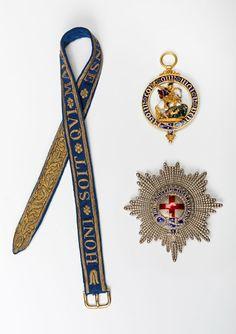 The Insignia of the Most Noble Order of the Garter, Century. Blue Garter, Garter Set, British Crown Jewels, Order Of The Garter, Royal Art, Jewellery Sketches, Royal Jewelry, Elizabeth Ii, Monogram
