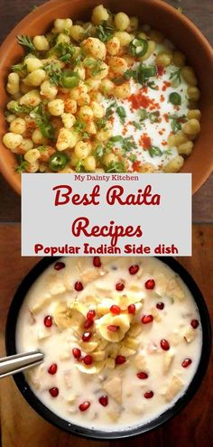 Get a collection of 9 everyday raita recipes that takes less than 10 minutes to prepare. These are the popular Indian side dish that completes the menu. Veg Recipes, Indian Food Recipes, Salad Recipes, Vegetarian Recipes, Cooking Recipes, Cooking Tips, Pakora Recipes, Curry Recipes, Delicious Recipes