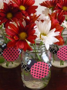 Ladybug party table decorations