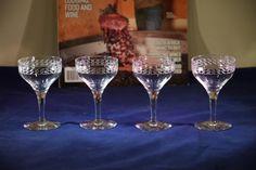 eca983282fa Vintage Etched Optic CRYSTAL Port Wine by Antiquevintagefind