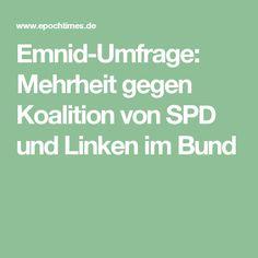 Emnid-Umfrage: Mehrheit gegen Koalition von SPD und Linken im Bund