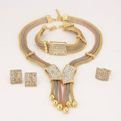 Find More Jewelry Sets Information about US$9.8  Women Italy Dubai Three Tone Necklace Earrings Gold Plated Jewelry Sets Wedding Party Bridal Accessories Costume jewelry,High Quality jewelry shoulder,China jewelry argentina Suppliers, Cheap accessories pc from AE Jewelry&sport jerseys on Aliexpress.com