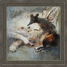 Cat Framed Print featuring the painting Whimsical Friendship by Valentina Kondrashova