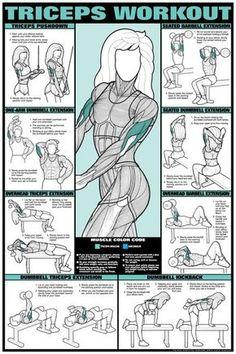 #Triceps: Una de las partes que las mujeres deben vigilar mas