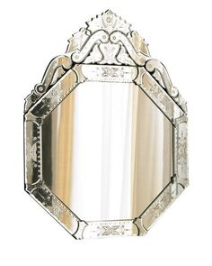 Shop Vasari Mirror at Horchow, where you'll find new lower shipping on hundreds of home furnishings and gifts. Pink Mirror, White Mirror, Stained Glass Cabinets, Mirrored Wallpaper, Powder Room Decor, Beautiful Mirrors, Small Mirrors, Venetian Mirrors, Home Decor Accessories