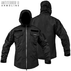 Tactical Jacket ANTITERROR 2 Membrane Black