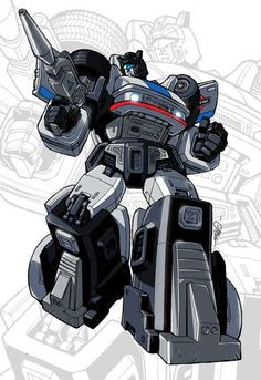 """This is from a set of postcard-sized pieces I did for IDW publishing back in 2006, featuring the cast from the """"Infiltration"""" miniseries by Simon Furman and ~EJ-Su. Designs were heavily inspired by..."""