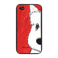 Westie Dog Red iPhone Snap Case $20.00