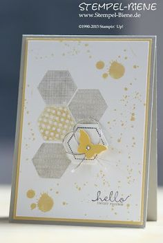 hexagon grunge grey and yellow ink spots