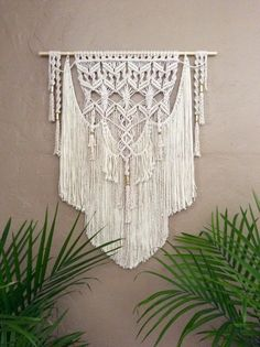 macrame wall hanging unique wall art wallmacrameelegance