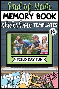 End of Year Slideshow Templates Pre K Graduation, Kindergarten Graduation, End Of Year Activities, Summer Activities, End Of School Year, Memory Books, Student Gifts, Future Classroom, Teaching Resources