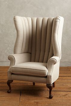 Linen English Fireside Chair #anthrofave #uptownchic #anthropologie