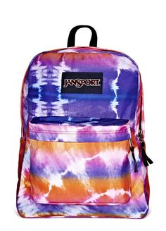this bright print is tie-dye for! -- colorful @JanSport backpack