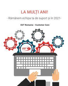 Te poti baza, in continuare, pe suportul oferit de echipa Customer Care. * 0757.097101 * customercare.ro@egt-bg.com * site-ul EGT Romania / sectiunea suport online Romania, Marketing, Words, Horse