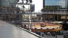 Il palco in #allestimento per #expo365 #expo2015