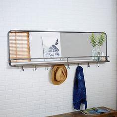 Entryway Mirror   Hooks - Large #westelm