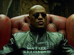 The matrix   ... Parede - Laurence Fishburne, The Matrix Reloaded, Morpheus [1024x768