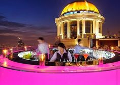 Sky bar, bangkok. Featured in the hangover 2. Amazing cocktails