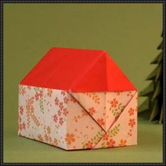 This paper craft is an origami House, designed by Roman Diaz, and the tutorial by Leyla Torres. You can also use it as a gift box. This video instruction s