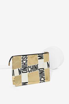 Vintage Moschino Gold Logo Bag