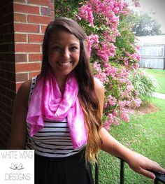 Hand Dyed Pink 100 Silk Scarf by WhiteWingDesigns on Etsy, $28.00