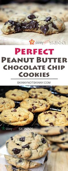 The most perfect Peanut butter Chocolate Chip Cookies you can make!