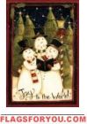 Snowmen Carolers House Flag