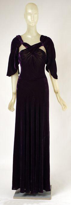 Evening Dress, Madeleine Vionnet (French, Chilleurs-aux-Bois 1876–1975 Paris): ca. 1934, French, silk.