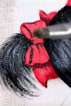 vídeo n 12   como pintar laço  em fralda com luz e sombra