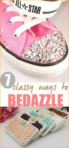 7 Ways to Bedazzle. Creative ideas on giving everyday necessities a whole new look.