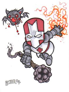 Castle Crashers Red Knight by on DeviantArt Castle Crashers, Dark Comics, Red Knight, Skullgirls, Comic Games, Indie Games, Game Character, Cute Drawings, Bowser