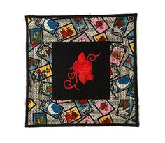 Mexican Loteria Quilt La Rosa Quilt Rose Embroidery Loteria